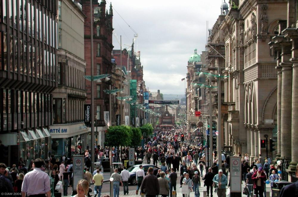 Bucanan Street in Glasgow